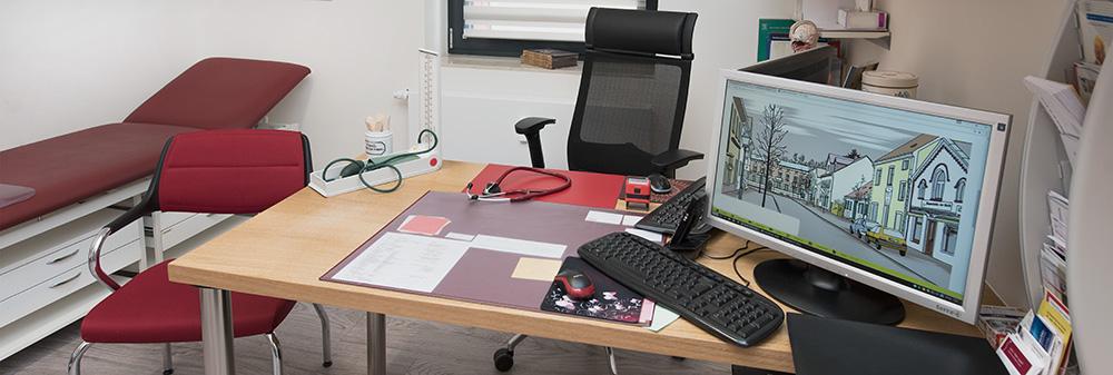 Detail Arbeitsplatz im Behandlungsraum